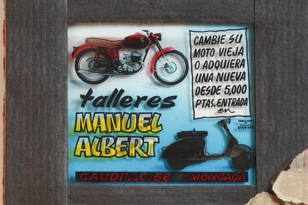 Publicidad de cristal Secote Talleres Manuel Albert