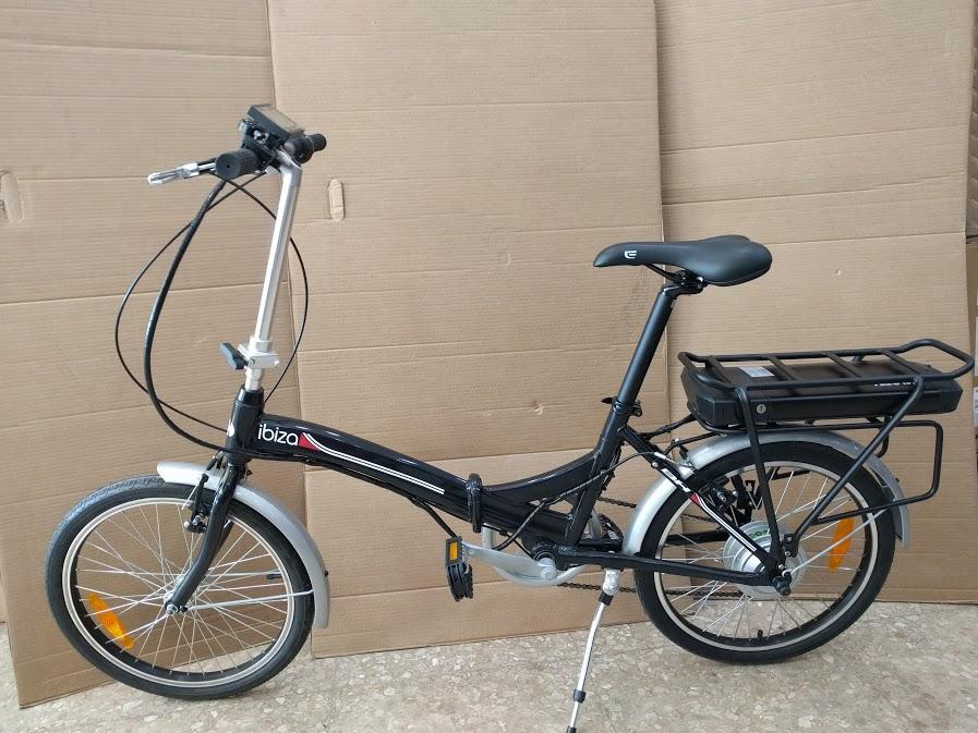 Bicicleta BH Plegable Ibiza transformada en bicicleta eléctrica