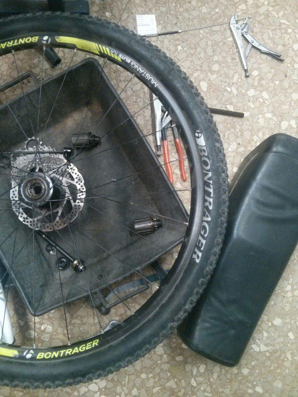 Sustitucion nucleo bicicleta Treck