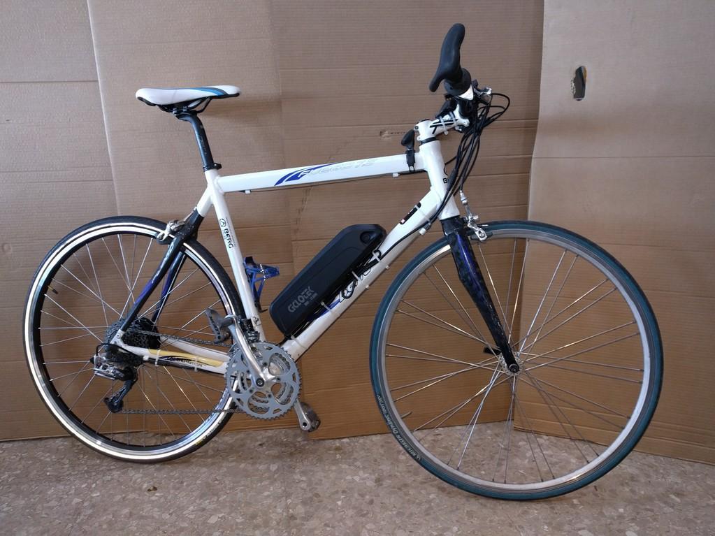 Bicicleta Berg transformada en bicicleta eléctrica